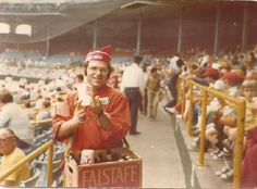 Don Gerstein vending in 1975 at Old Comiskey Park