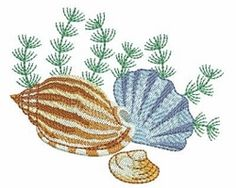 Seashells 4, 7 - 4x4 | What's New | Machine Embroidery Designs | SWAKembroidery.com Ace Points Embroidery