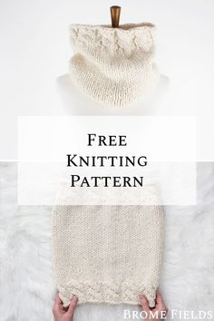 Grab your FREE cable cowl knitting pattern! A classic stockinette stitch cowl with a bit of a twist at the top and bottom. Dishcloth Knitting Patterns, Knitting Stiches, Sweater Knitting Patterns, Lace Knitting, Knitting Tutorials, Knit Stitches, Cable Cowl, Cable Knit, Baby Hut