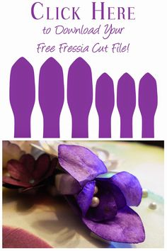 Free cut file to make freesia flowers from Alice Scraps Wonderland | Silhouette Cut Fle