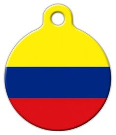 This tag features the flag of Columbia. Display your pet's national pride and patriotism with this great flag dog tag. Dog Id Tags, Pet Tags, Cat Collars, Tag Art, Pet Supplies, Your Pet, Dog Cat, Cats, Gatos