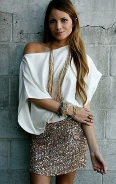Off the shoulder + sequin