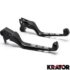 Krator® Black Skull Motorcycle Hand Levers Front Controls For 1996-2003 Harley Davidson XL Sportster 883 / 1200