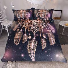 Dream Catcher Purple Bedding Set Purple Bedding Sets, Bohemian Bedding Sets, Queen Bedding Sets, Luxury Bedding Sets, Black Bedding, Comforter Sets, Hippie Bedding, Boho Comforters, Bohemian Bedspread