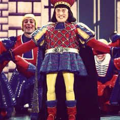 Shrek the musical! Theatre Shows, Theatre Geek, Broadway Theatre, Musical Theatre, Theater, Lord Farquaad Costume, Shrek Costume, Sutton Foster, Theatre Costumes