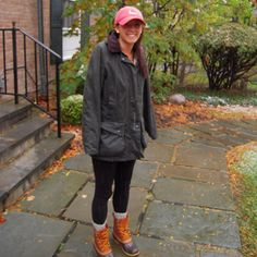 Barbour, Duck Boots, and Harding Lane Needlepoint Hat