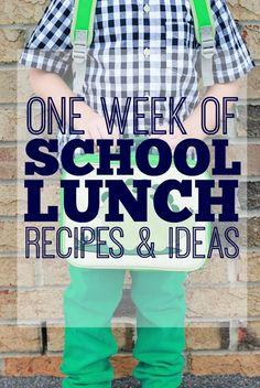 one week of school lunch recipes