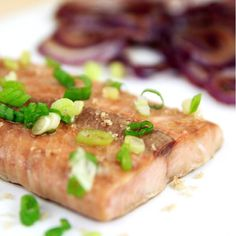 TAG A FRIEND WHO IS TRYING TO EAT MORE FISH! I'm always trying to get more fish into my diet, but for some reason I get so intimidated by cooking it! This recipe is TOO easy not to give it a whirl! I love to toss onions with the leftover marinade, because they are so yummy and make the dish complete with no extra cooking steps! Don't forget- onions aren't only good for enhancing other flavors- they are vegetables that can be eaten alone and are deliciousas ...