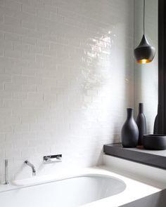 Salle de bain avec carrelage métro de NY - Look rétro et classique