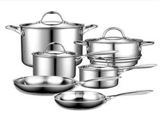 Cooks Standard Multi-Ply Clad Stainless-Steel 10-Piece Cookware Set Review  quality induction pan that is set under economic range, you should give Cooks Standard Multi-Ply clad cookware set a try.