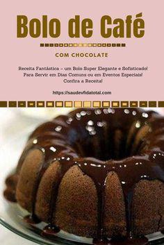 Gf Recipes, Sweet Recipes, Cake Recipes, Café Chocolate, Chocolate Desserts, Homemade Cheesecake, Portuguese Recipes, Coffee Recipes, Food Cakes