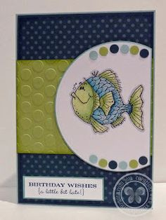 Stampin with Paula: Fishy Friends  I like the layout... like the colour scheme