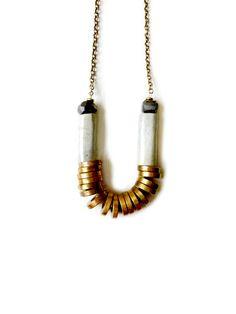 * Kim Dulaney - soft turquoise tube necklace