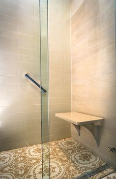 The Hollspa floating shower bench enhances the pleasure of the shower experience, complements the beauty of the space, and is rated for 500 lbs, twice the ADA requirement. Since its top doesn't touch the back wall, it eliminates the need of grout or caulk, ensuring a long lasting, maintenance-free use.