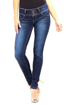 d7f55ac0050 Wannabettabutt 3-Button Skinny- New Blue - CQ185DS2M30