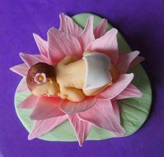 Baby in a water lily. Lily, Baking, Water, Gripe Water, Bakken, Lilies, Bread, Backen, Aqua