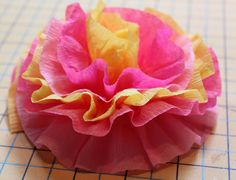 Crepe Paper Flowers - The Cottage Mama