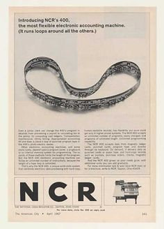 NCR 400 Electronic Accounting Machine Tape Loop (1967).