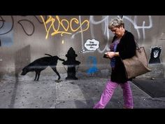 ▶ New Banksy graffiti on the streets of New York - YouTube