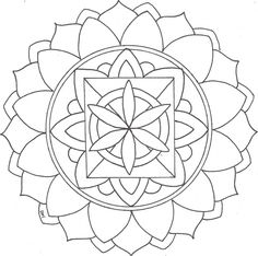 Mandalas para colorear una divertida forma de decirle adi sketch coloring p Mandalas Painting, Mandalas Drawing, Mandala Coloring Pages, Coloring Book Pages, Zentangles, Chakra Colors, Pin On, Mandala Tattoo, Printable Coloring