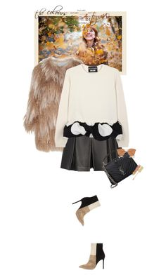 """""""Mondays - 19.10.15"""" by matilda66 ❤ liked on Polyvore featuring Meteo by Yves Salomon, Proenza Schouler, Boutique Moschino, Gianvito Rossi, Yves Saint Laurent, Fendi and AERIN"""