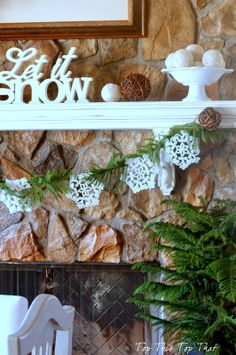 Top This Top That: Creating A Cozy Home Tour- Winter Mantel Idea