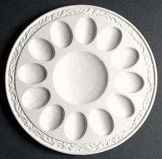 Mikasa Italian Countryside Deviled Egg Plate. Cute and the plain neutral white makes the platter versatile for any occasion.