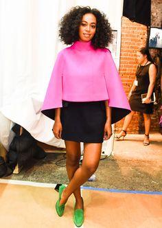 Le premier rang du défilé Milly Solange Knowles © Abaca