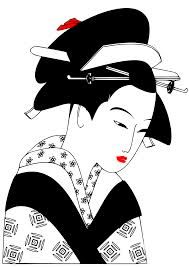 geisha japanese japan drawing clipart simple svg woman coloring google drawings easy sheet illustration asian kimono designlooter colouring nl vector