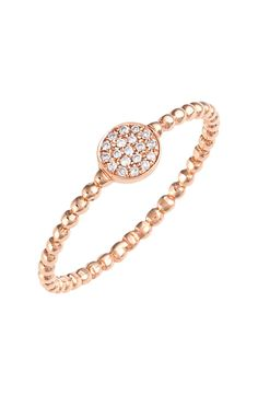 This rose gold diamond ring from Bony Levy is absolute perfection!