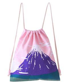 Pre-Order Fuji San String Bag http://shop.inu-inu.co/FujiSanStringBag #kawaii…