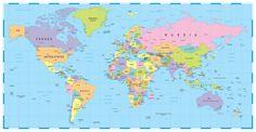 World Map Wall Art  Canvas Wall Art, Wood Sign, or Print Nautical, Graduation Gift, Christmas, Den Decor, Office by HeartlandSigns on Etsy
