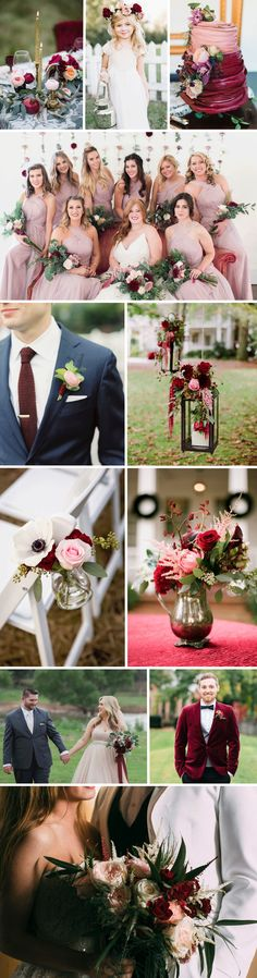 FiftyFlowers - Blush & Burgundy Wedding Inspiration