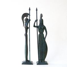 Greek Goddess Athena Metal Art Sculpture Goddess by GreekMythos