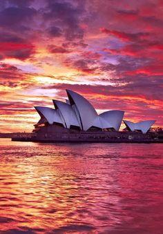 The Sydney Opera House, Sydney, New South Wales, Australia.