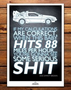 Back to the Future Movie Quote Some Serious Shit by TomRyansStudio, $30.00