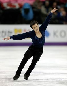 Patrick Chan. Short program flawless but free skate not clean. He has obtained his 3rd World Championship. March 15 2013.