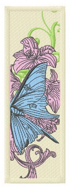 Butterfly's world 2  machine embroidery design. Machine embroidery design. www.embroideres.com