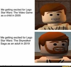 Me getting excited for Lego Star Wars: The Video Game as a child in 2005 Me getting excited for Lego Star Wars: The Skywalker Saga as an adult in 2019 - iFunny :) Child Actresses, Child Actors, Lego Star Wars, Return Of The Sith, Star Wars Video Games, Star Wars Personajes, Act For Kids, I Have No Friends, Funny Relatable Memes
