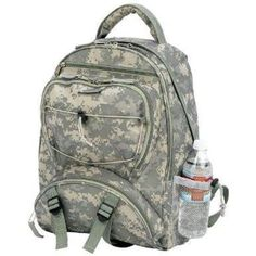 B&F System LUBPSD Extreme Pak Digital Camo Water-Repellent Backpack