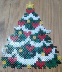 Christmas tree hama perler beads