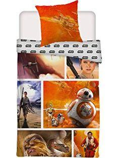 Star Wars Wende Bettwäsche Set 135x200cm + 80x80cm 100% Baumwolle Rey Chewbacca 549  http://amzn.to/2rmoZUx