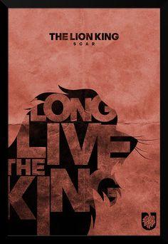 Scar - Lion King Typography Print - 12 x 18 via Etsy