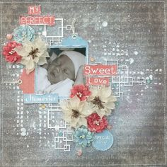 Amy's Pretty Papers: My Perfect Sweet Love Layout for ***Studio 75***
