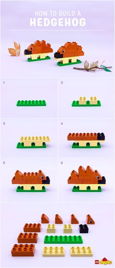 Did you know there are 17 species of hedgehog? Make that 18!  Have fun building this spiky friend with your toddler: http://www.lego.com/da-dk/family/articles/how-to-build-a-hedgehog-f59afdff83194ac3a701c6066235f608