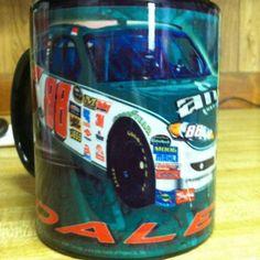 International Delight Caramel Macchiato Creamer in Dale Jr mug filled with Folgers Coffee - Yummy :0)