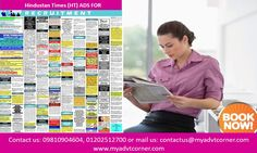 Publish Situation Vacant, Appointment or Recruitment Ads in Hindustan Times Newspaper Any Edition. You can book vacancy ad in HT Newspaper through our online ad booking facility, which is completely secure, reliable and cost friendly. Check Hindustan Times Vacancy Ad rates, rate card online and discounted packages.