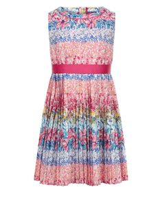 Buy Monsoon Multi Georgia Pleated Dress from the Next UK online shop Annie Costume, Girls Dresses, Summer Dresses, Clothing Co, Monsoon, Georgia, Kids Outfits, Kids Fashion, Party Dress
