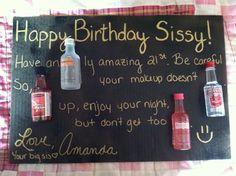 Cute 21st birthday card for my frands :) good thing I turn 21 first! hahahahaha