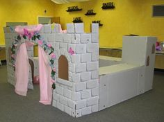 another view of the cardboard castle, via Flickr.